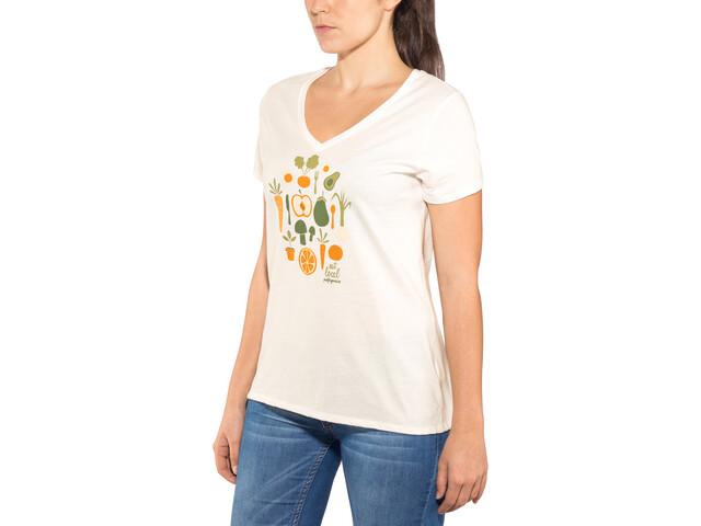 Patagonia Harvest Haul Organic V-Neck T-Shirt Damen white
